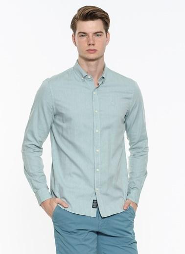 Mavi Cepsiz Gömlek Yeşil